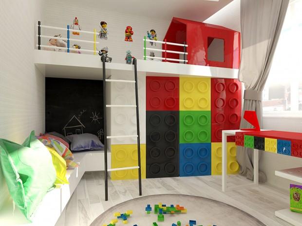 ไอเดียตกแต่งห้องเด็กด้วยเลโก้