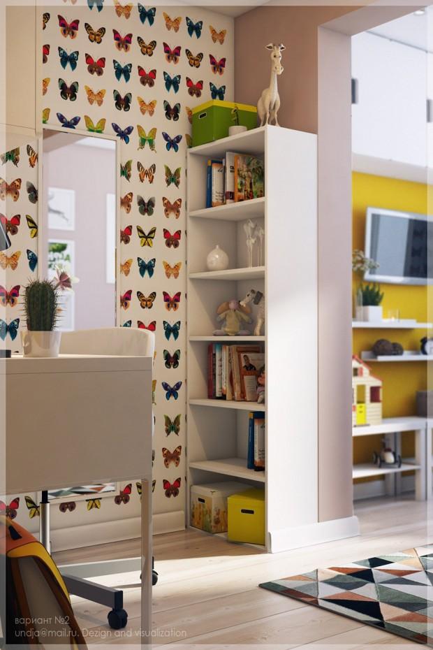 ตกแต่งห้องนอนเด็กหลากสีสันมีชีวิตชีวา