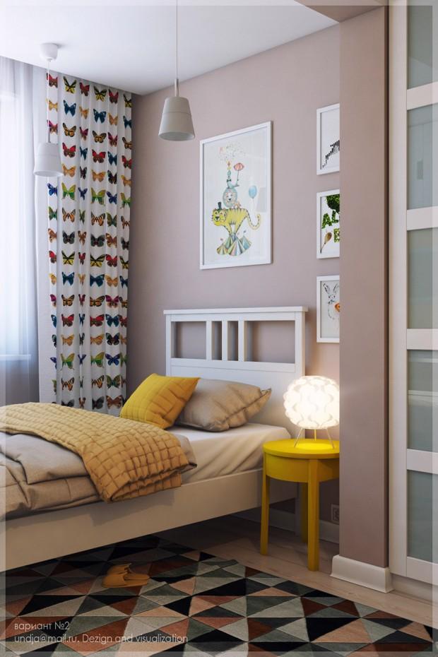 เตียงนอนริมหน้าต่างรับแสงและอากาศสดชื่น