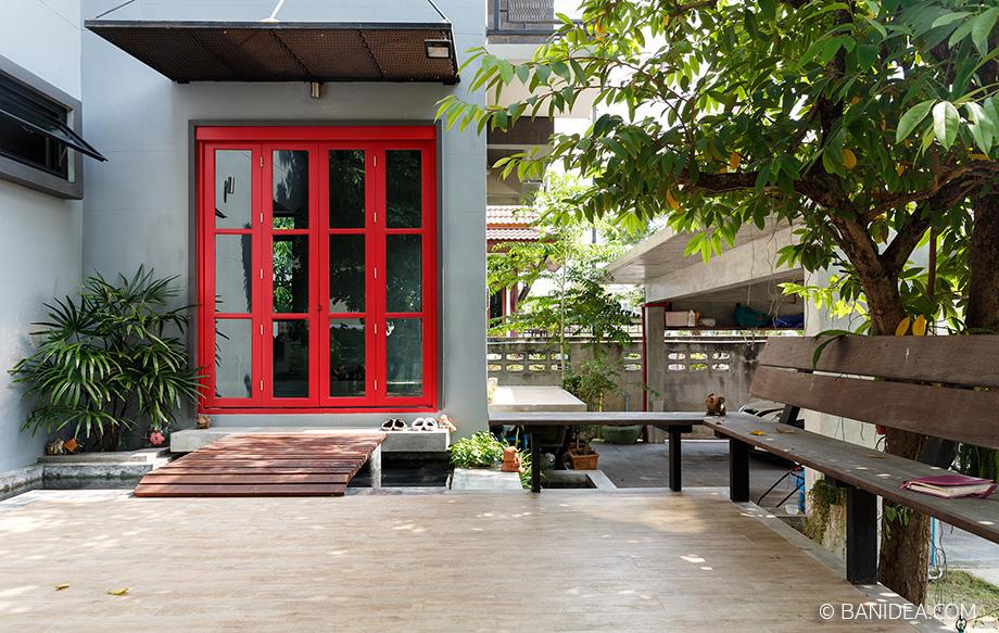ประตูบ้าน สีแดง ฮวงจุ้ยดี