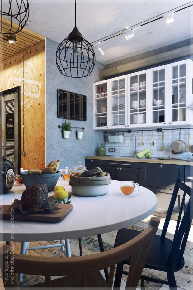 โต๊ะรับประทานอาหารเล็ก ๆ ในครัว
