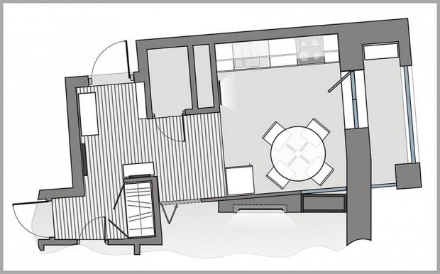 แปลนครัว Modern-loft