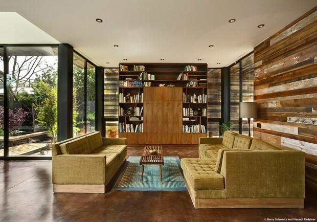 ห้องนั่งเล่นและพื้นที่อ่านหนังสือ