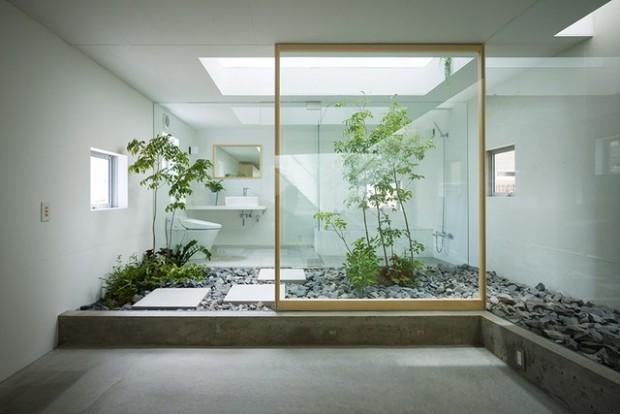 ห้องน้ำโปร่งใสสไตล์ญี่ปุ่น
