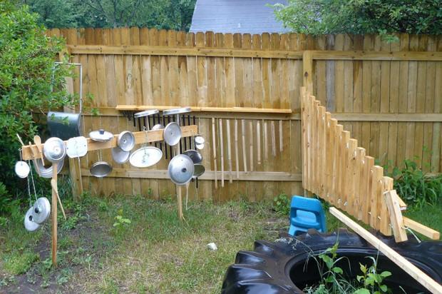 มุมดนตรีทำเองง่าย ๆ ในสวน