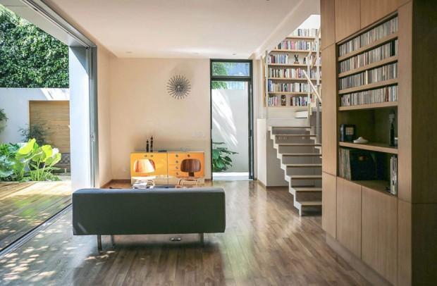 พื้นที่นั่งเล่นอ่านหนังสือในบ้าน