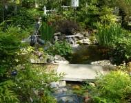สะพานคอนกรีตในสวนเล็ก ๆ
