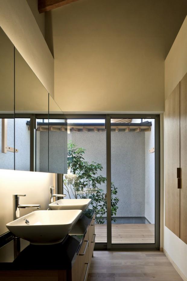 ห้องน้ำทันสมัยในบ้านสไตล์ญี่ปุ่น