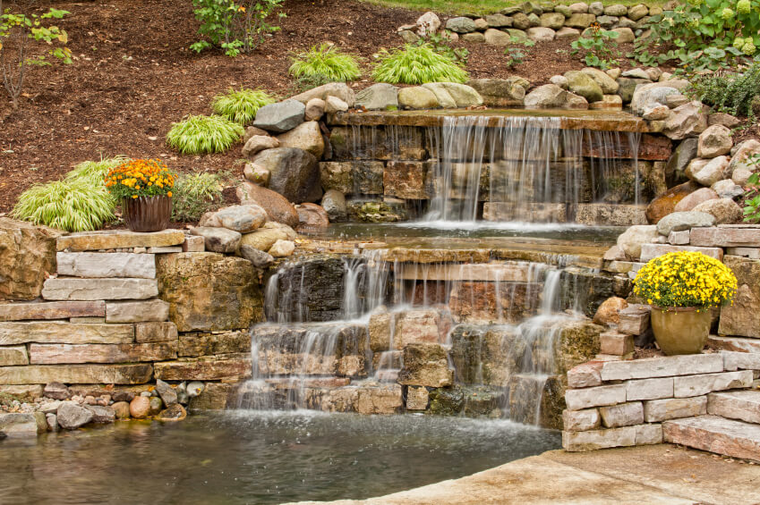 ทำน้ำตกในสวน