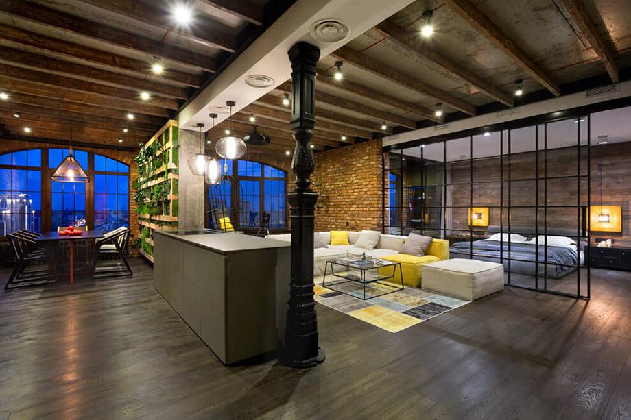 Inspiring loft martin architects 08 - Loft industriel martin architectes kiev ...