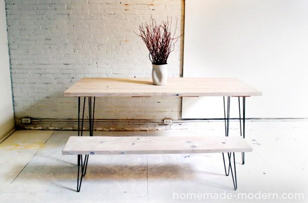 โต๊ะม้านั่งยาวขากิ๊บเหล็ก