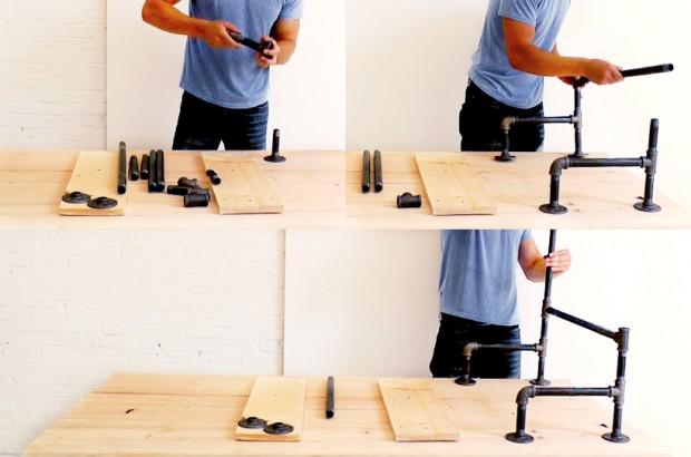 ขั้นตอนการประกอบท่อเหล็กทำขาโต๊ะ