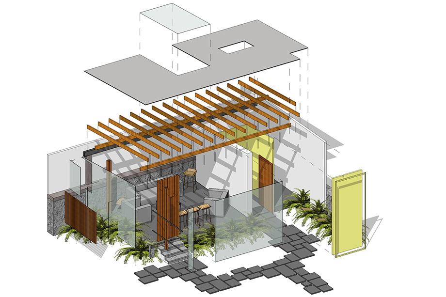ภาพส่วนประกอบโครงสร้างอาคาร