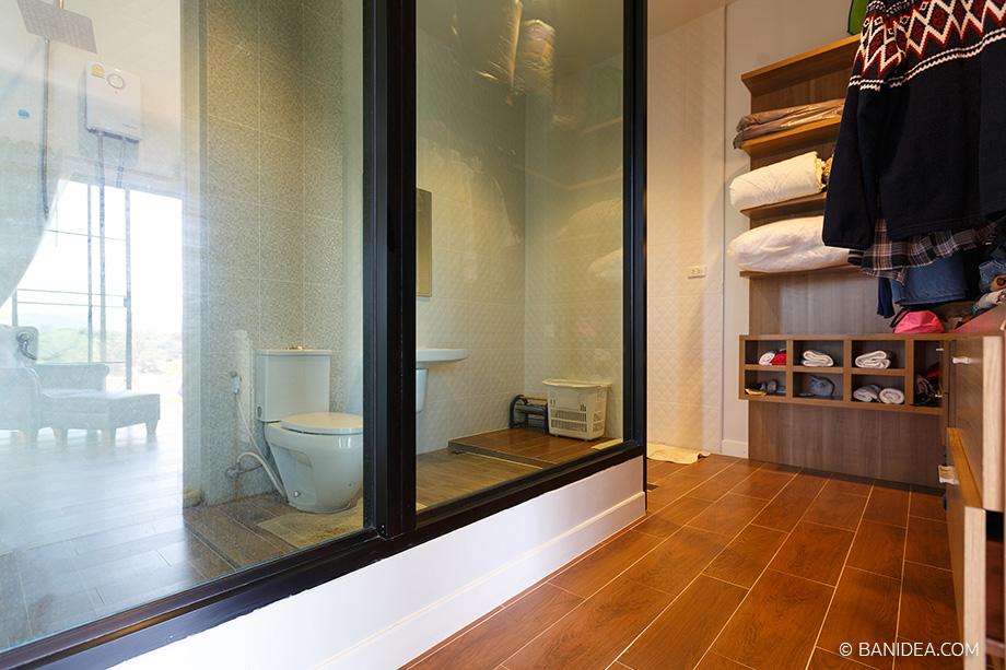 ห้องน้ำ ผนังกระจก