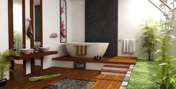 จัดสวนสวยในห้องน้ำ