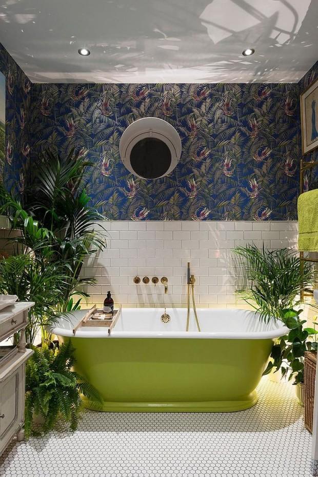 พื้นที่สีเขียวเล็ก ๆ ในห้องน้ำ