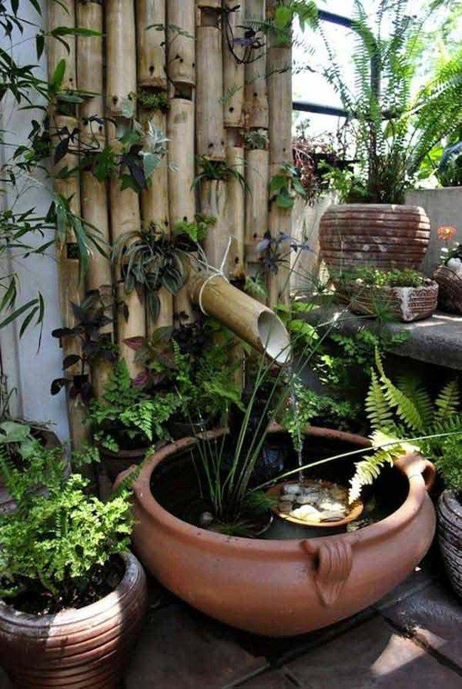 สวนน้ำรินจากไม้ไผ่และอ่างดิน