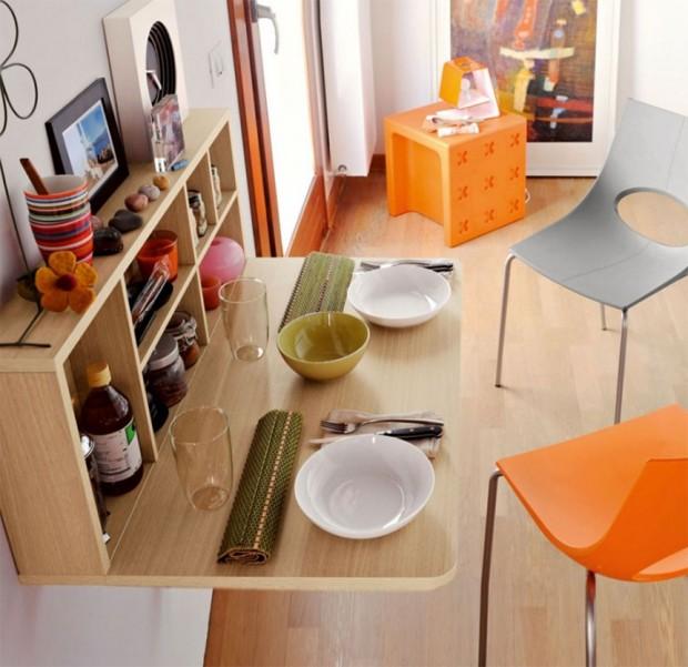 โต๊ะทานข้าวพับติดผนัง