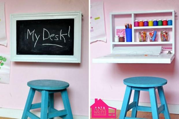 โต๊ะทำการบ้านพับเก็บได้