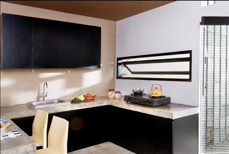 มุมครัวมีสไตล์ในบ้านหลังเล็ก