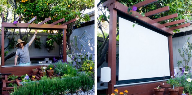 DIY โรงหนังกลางสวนหลังบ้าน