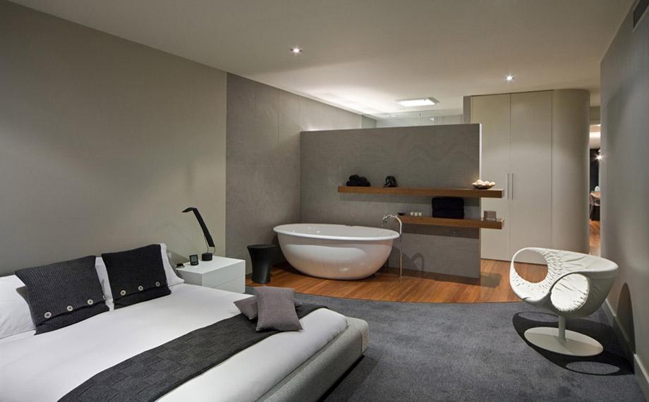 อ่างอาบน้ำอยู่ในห้องนอน - บ้านไอเดีย เว็บไซต์เพื่อบ้านคุณ