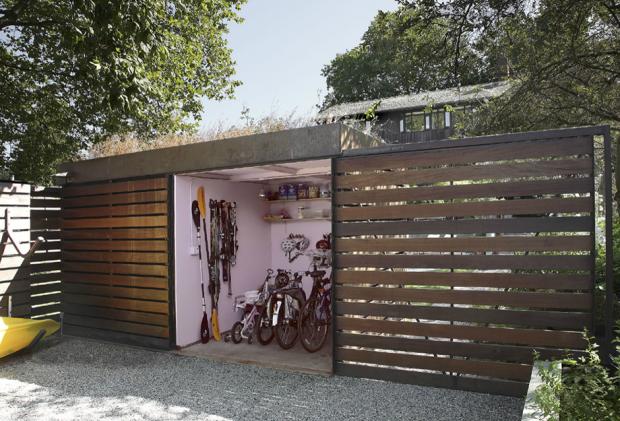 ห้องเก็บจักรยานในสวน