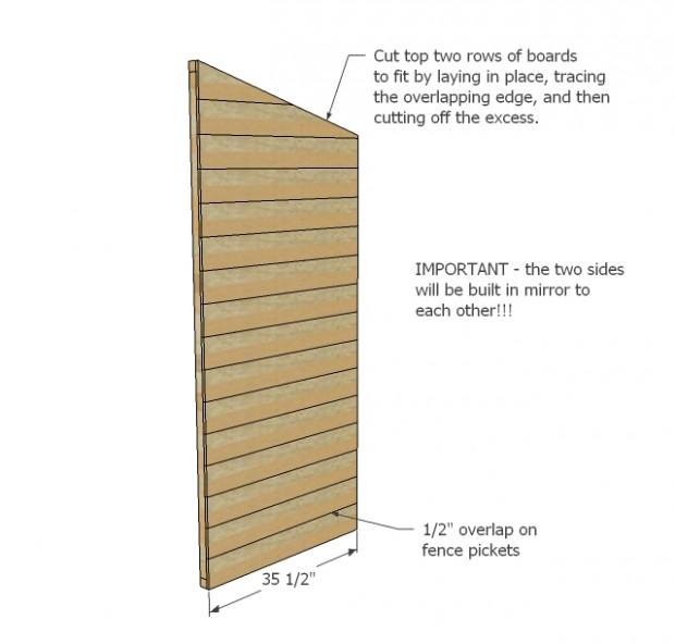 ตีไม้ปิดทับโครงส่วนข้างตู้