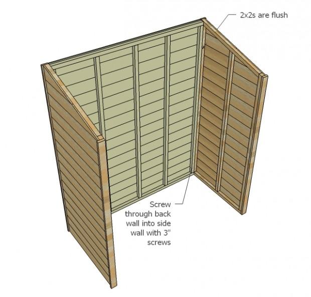 ประกอบแผ่นไม้ข้างเข้ากับส่วนหลังตู้