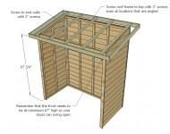 ประกอบโครงหลังคาเข้ากับตู้