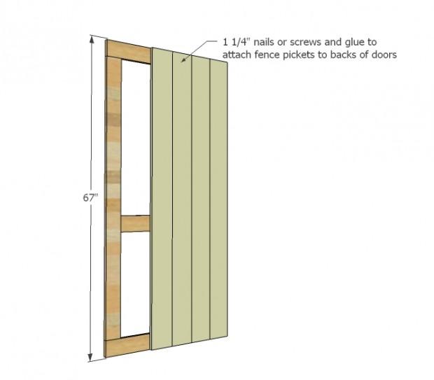 ตีไม้ปิดทับโครงประตู