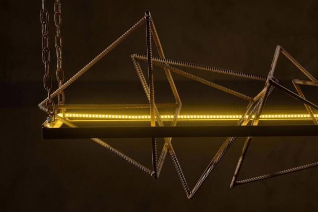 โคมไฟเหล็กสไตล์โมเดิร์นอันดัสเทรียล