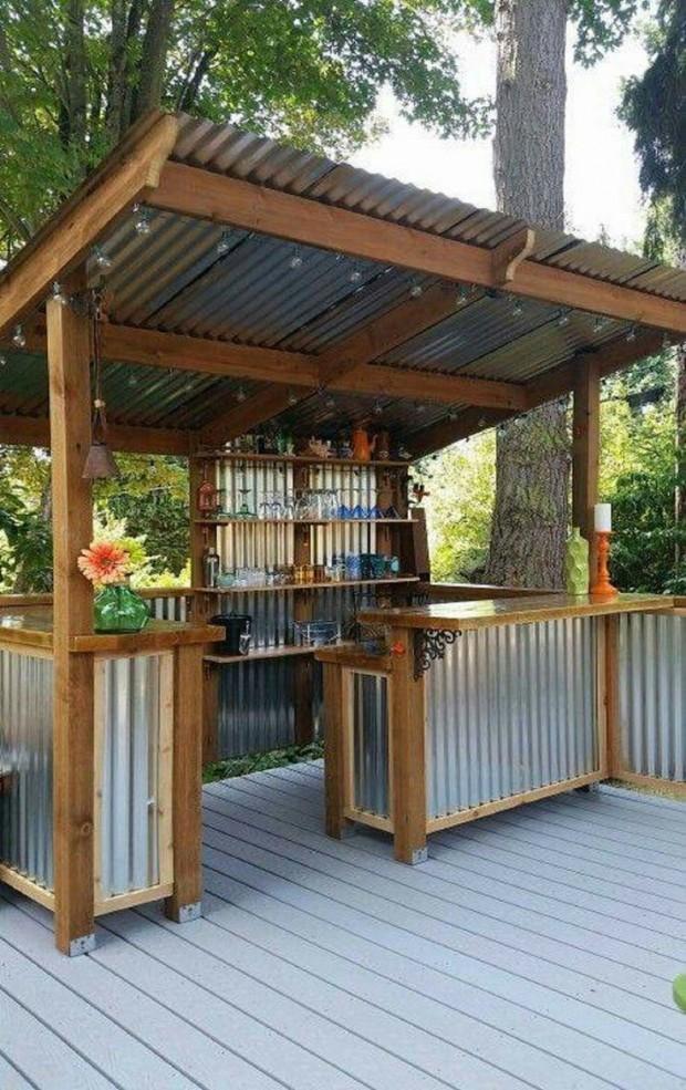 ไอเดียสร้างมินิบาร์ในสวนหลังบ้าน