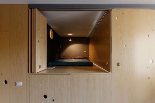 ผนังปิดให้กลายเป็นห้องนอนได้
