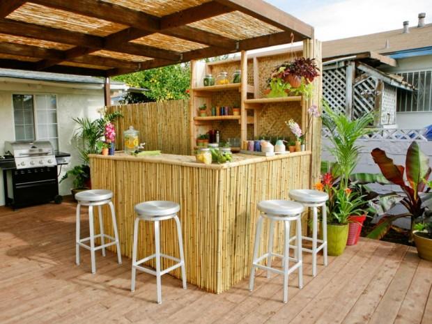 minibar ในสวนหลังบ้าน