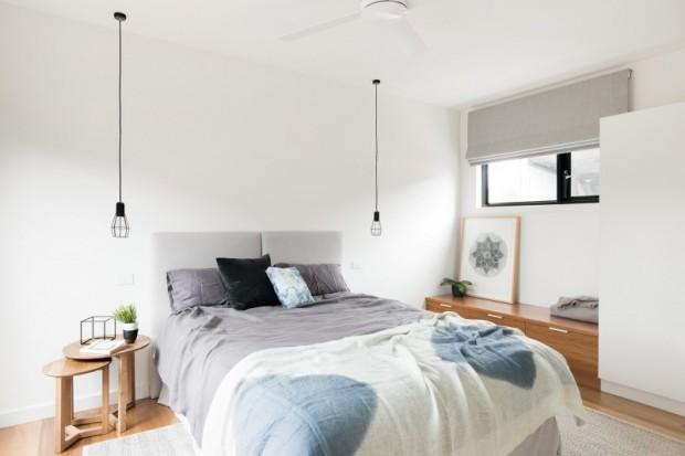 ห้องนอนโทนสีขาว