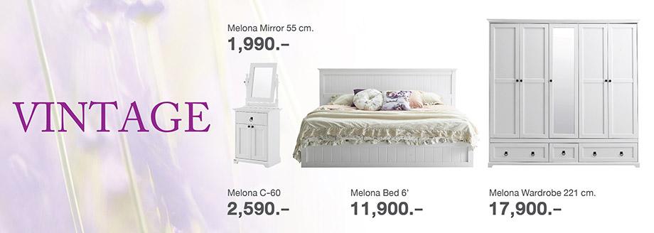 ห้องนอนสวยแบบวินเทจ
