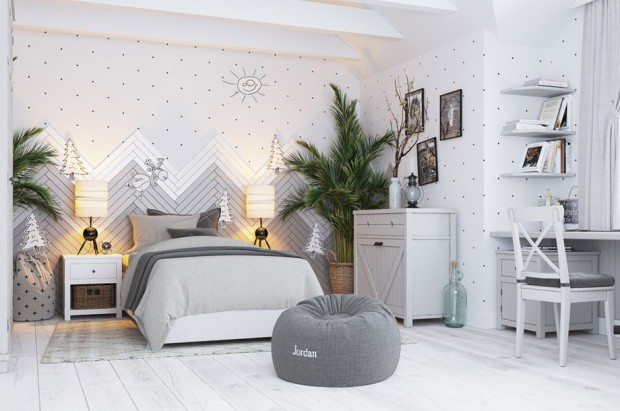 ห้องนอนเด็กเน้นความเป็นธรรมชาติ