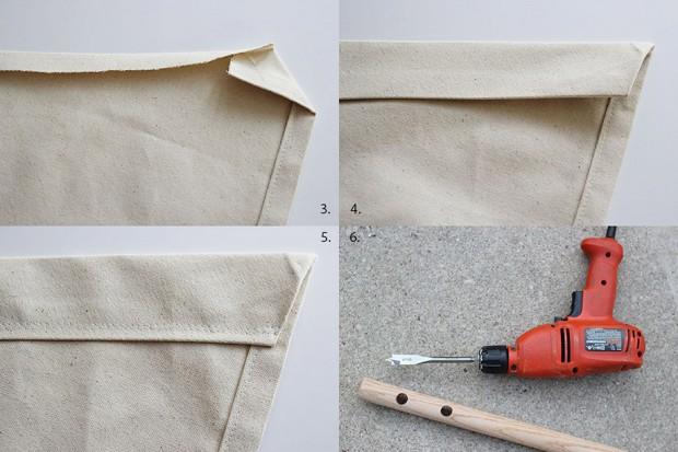 ตัดผ้าและเจาะไม้