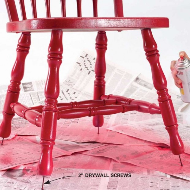 วิธีทาสีขาโต๊ะ