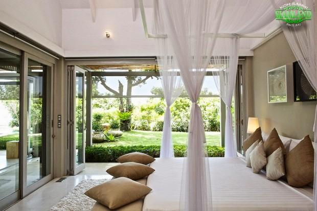 ห้องนอนวิวสวน