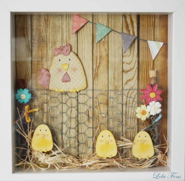 กรอบรูปแต่งบ้านทำจากตาข่ายกรงไก่