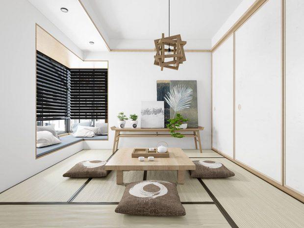 ห้องนั่งเล่นส่วนตัวจำลองบรรยากาศญี่ปุ่น