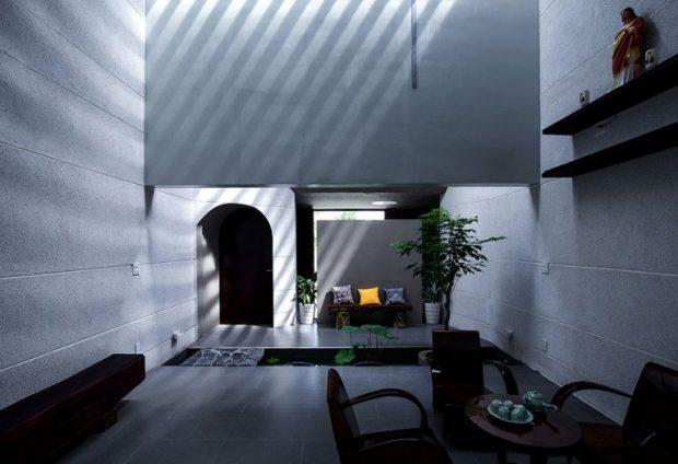 การตกแต่งภายในบ้านสว่างด้วยแสงจากธรรมชาติ