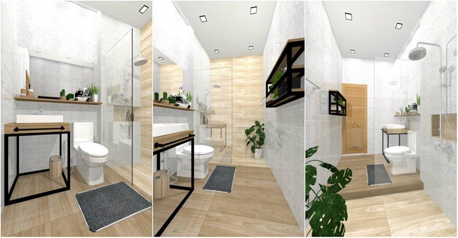 ตัวอย่างห้องน้ำ 3D