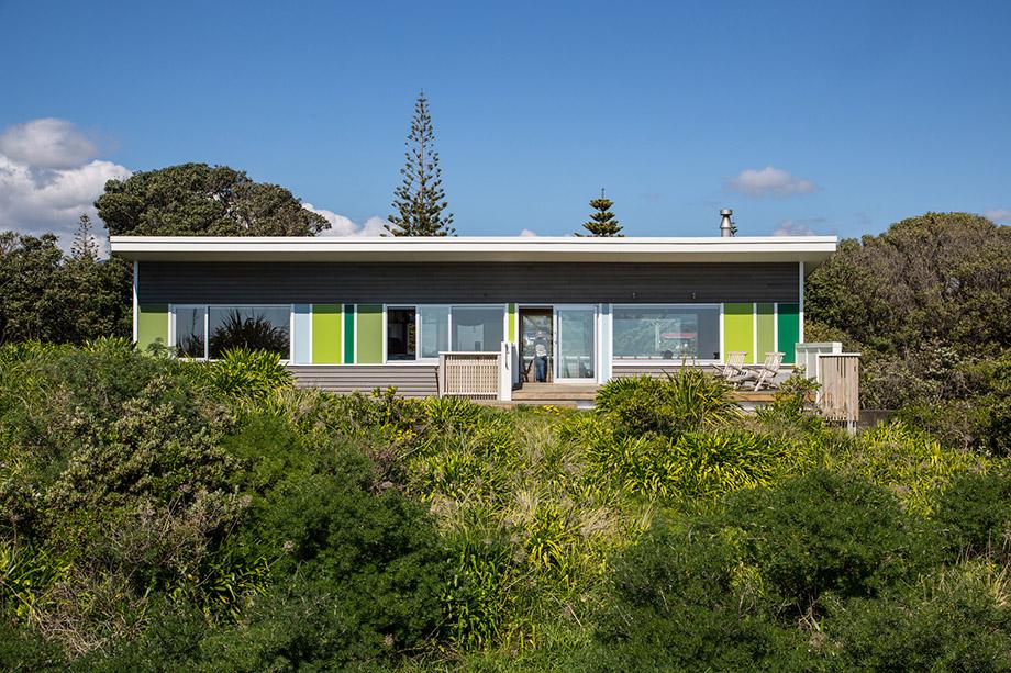 บ้านสีพาสเทลโทนเขียว