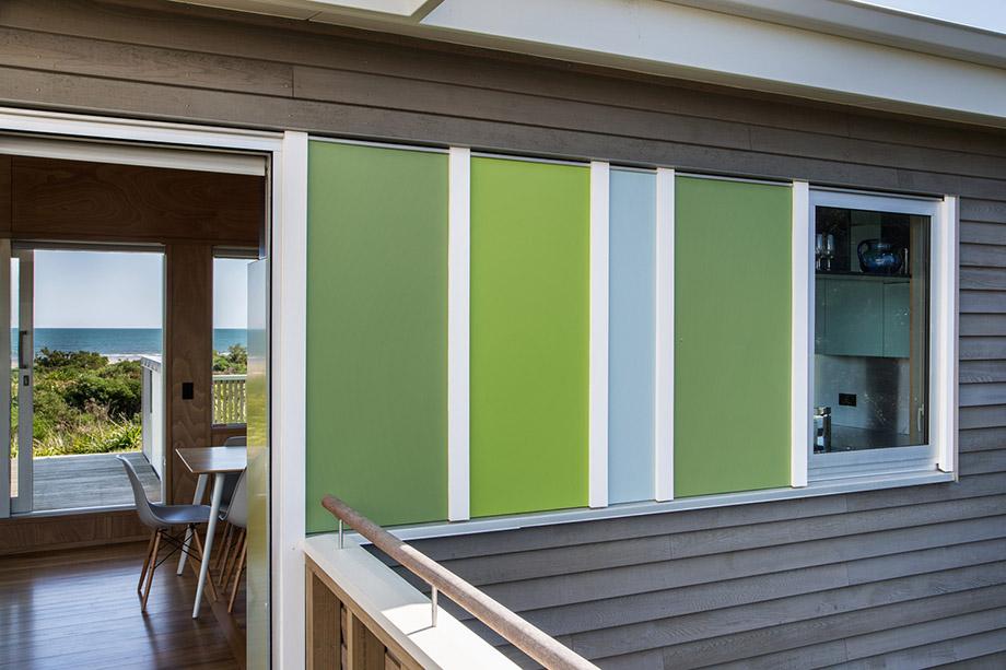 ผนังบ้านโทนสีเขียวพาสเทล