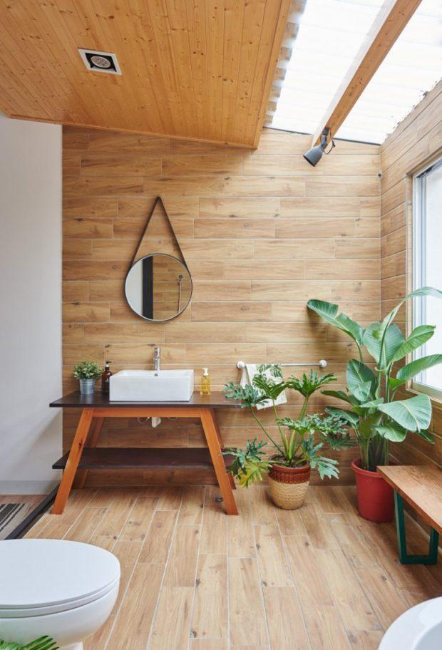 สวนเล็ก ๆ ในห้องน้ำ