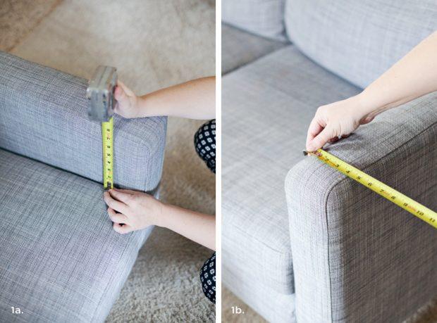 วัดเท้าแขนโซฟา