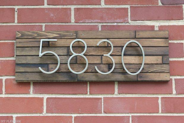 ป้ายบ้านเลขที่โมเดิร์น
